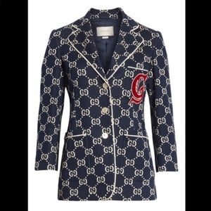 Gucci GG Embroidered Jersey Blazer